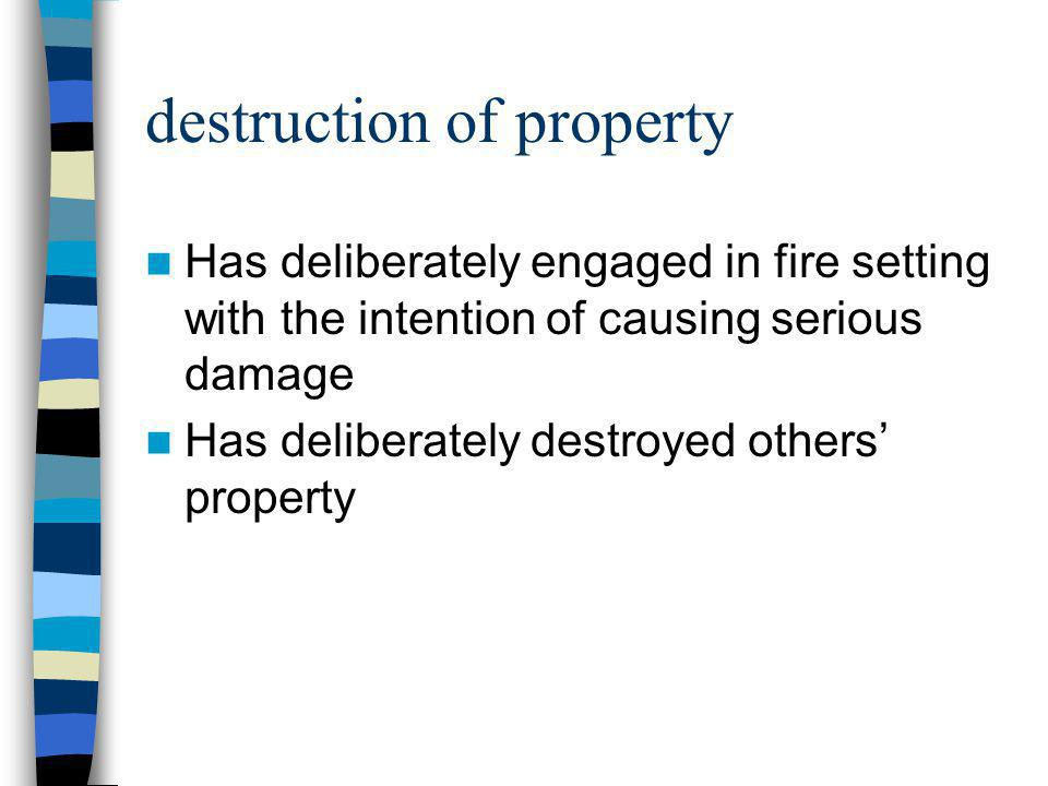 destruction of property