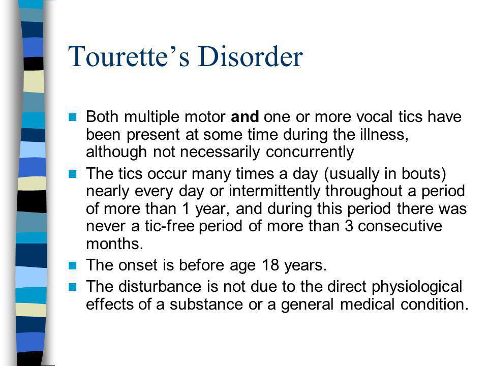 Tourette's Disorder