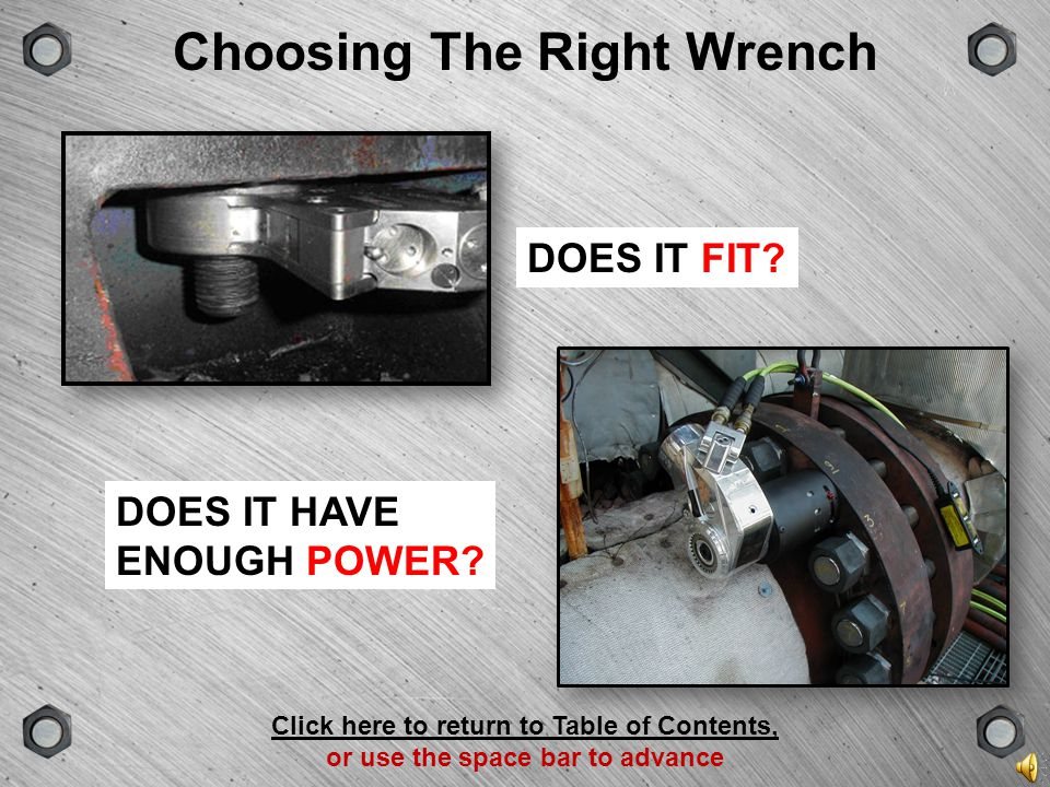 Choosing The Right Wrench