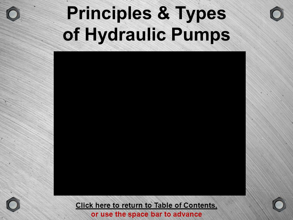 Principles & Types of Hydraulic Pumps