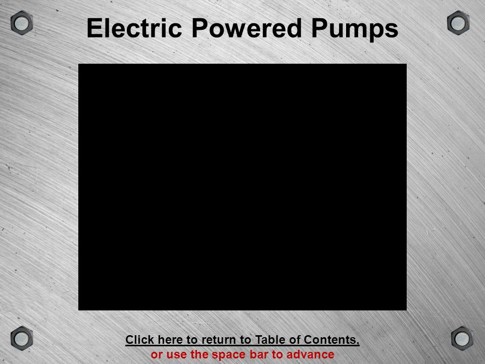 Electric Powered Pumps