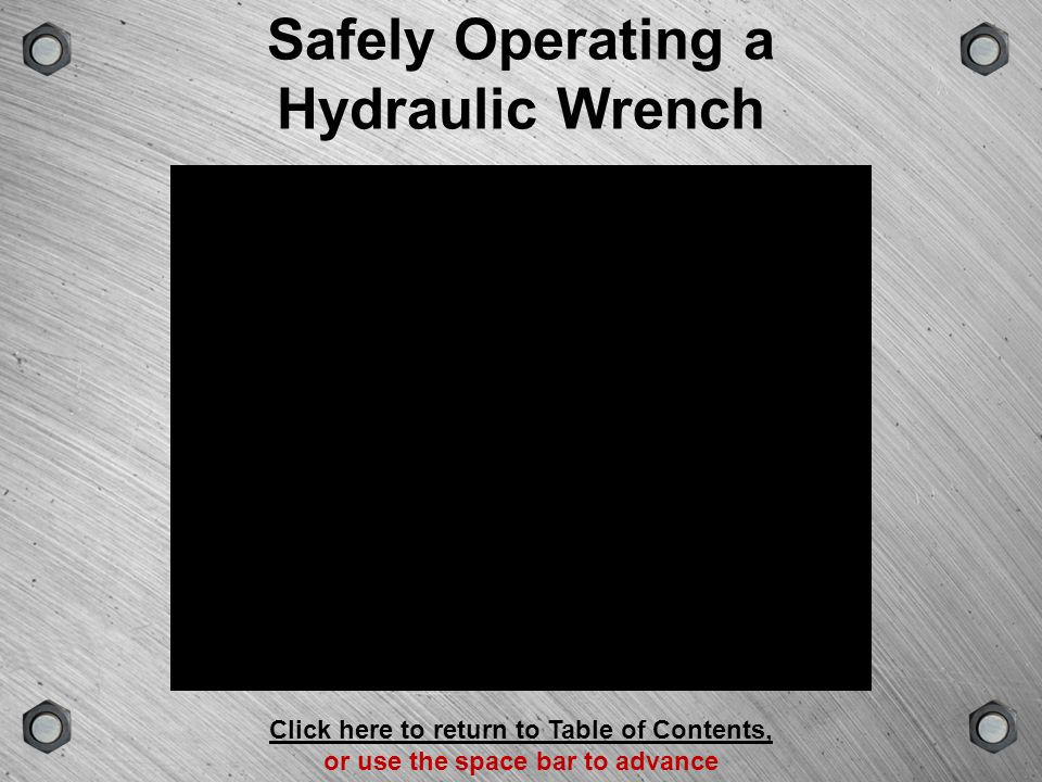 Safely Operating a Hydraulic Wrench