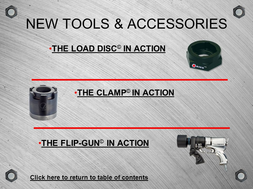 NEW TOOLS & ACCESSORIES