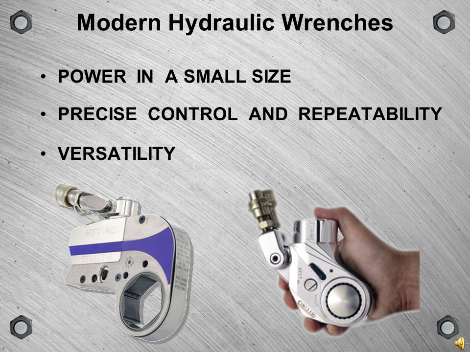 Modern Hydraulic Wrenches