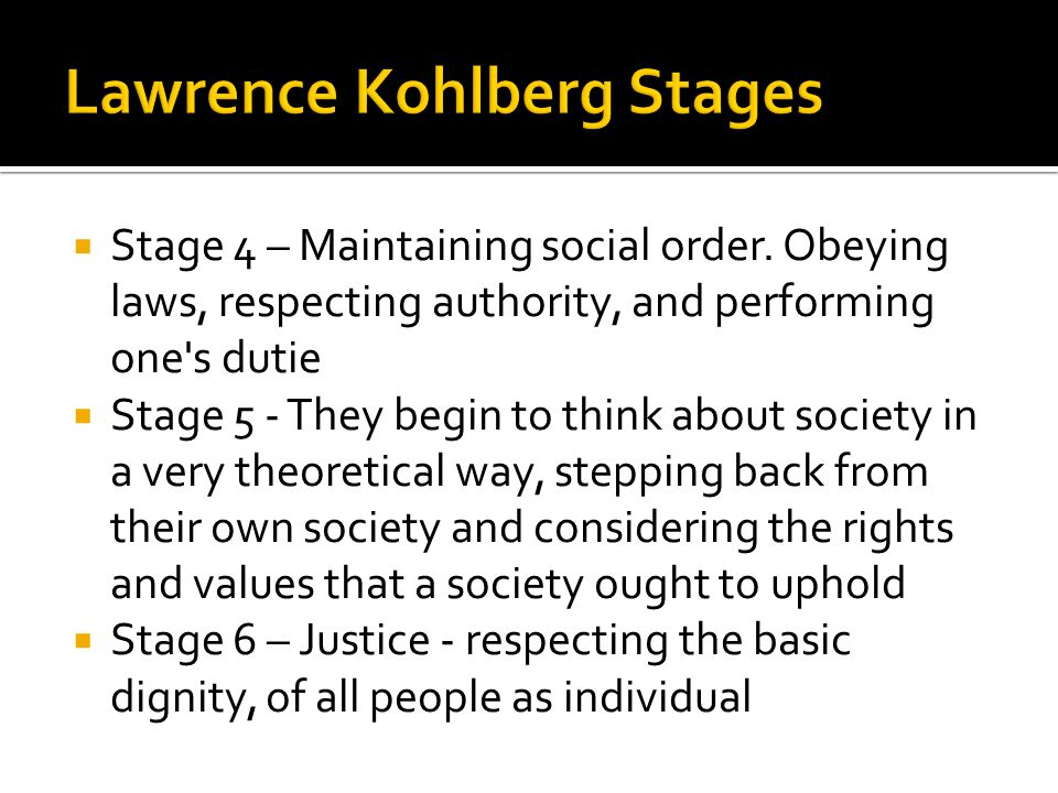 Lawrence Kohlberg Stages