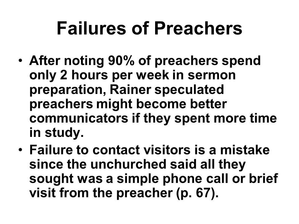 Failures of Preachers