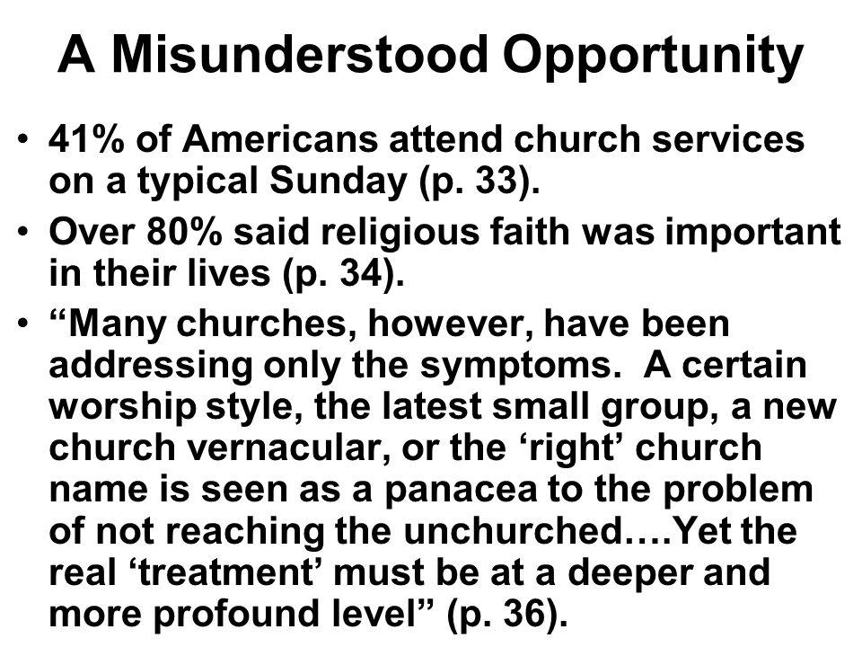 A Misunderstood Opportunity