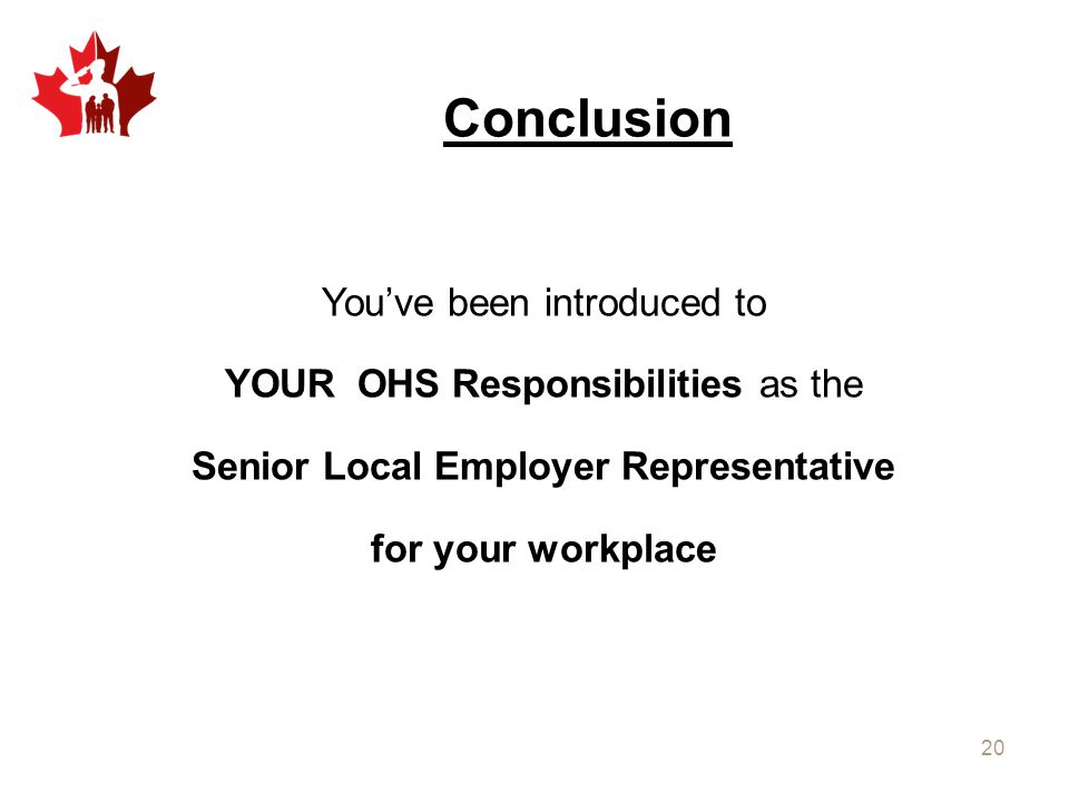 Senior Local Employer Representative