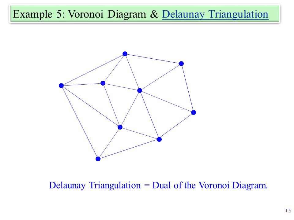 Example 5: Voronoi Diagram & Delaunay Triangulation