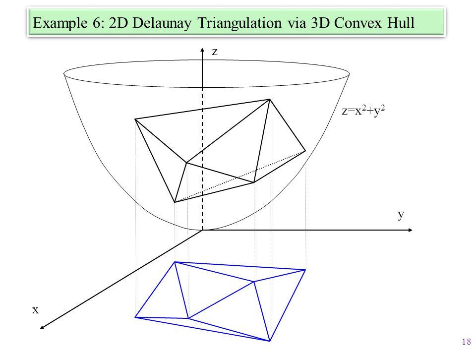 Example 6: 2D Delaunay Triangulation via 3D Convex Hull