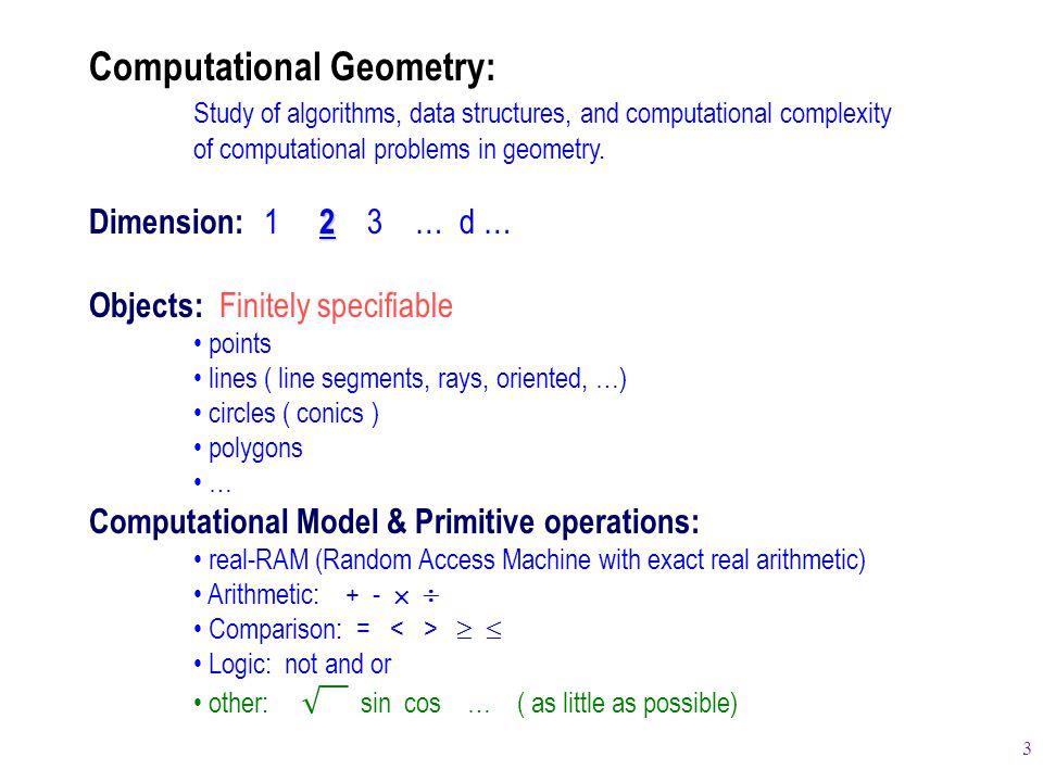 Computational Geometry: