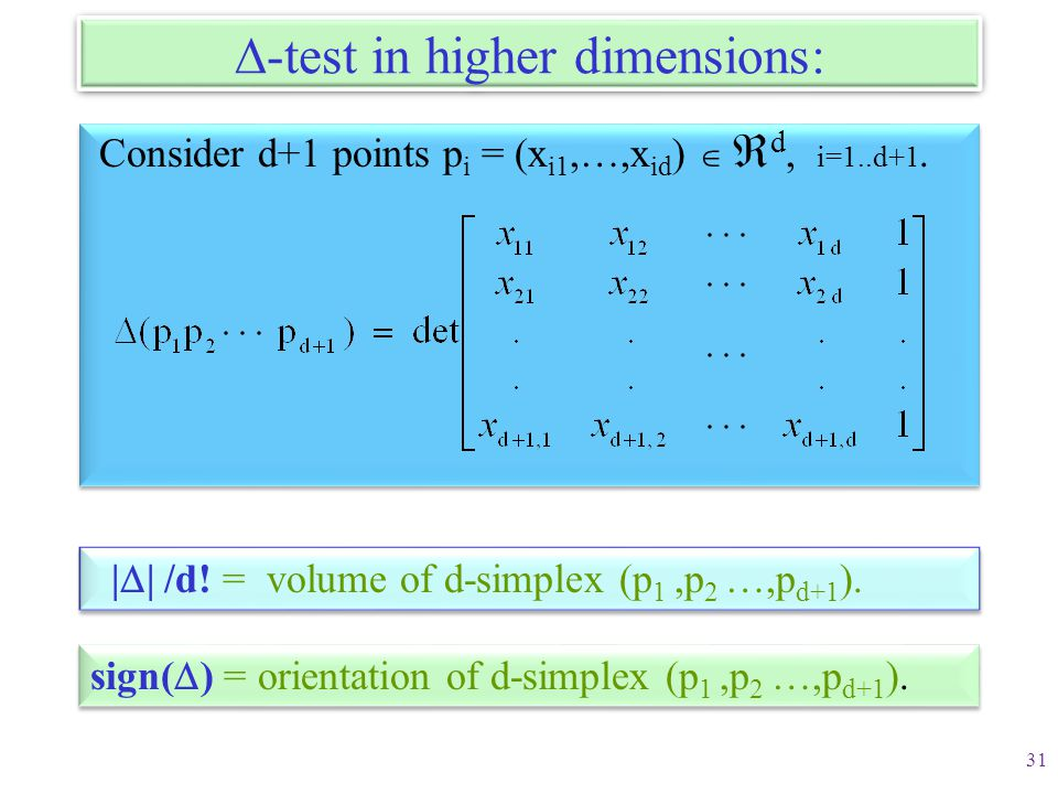 -test in higher dimensions:
