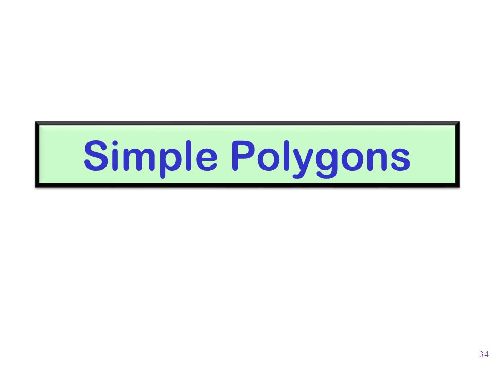 Simple Polygons