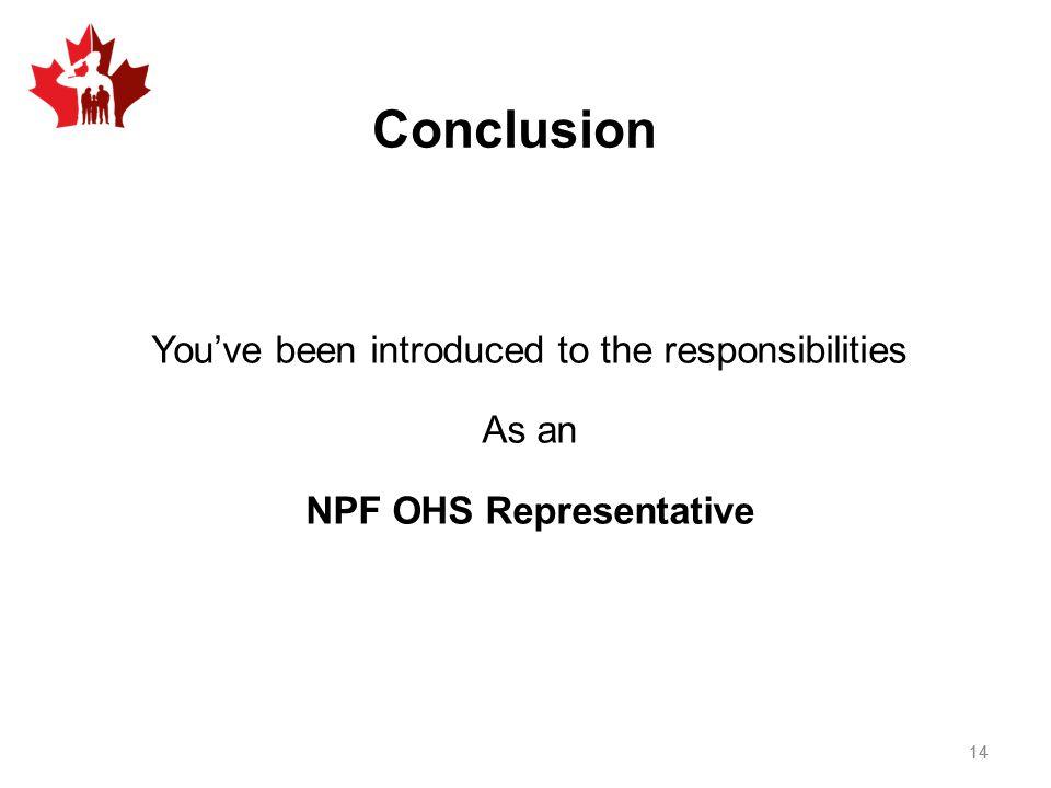 NPF OHS Representative