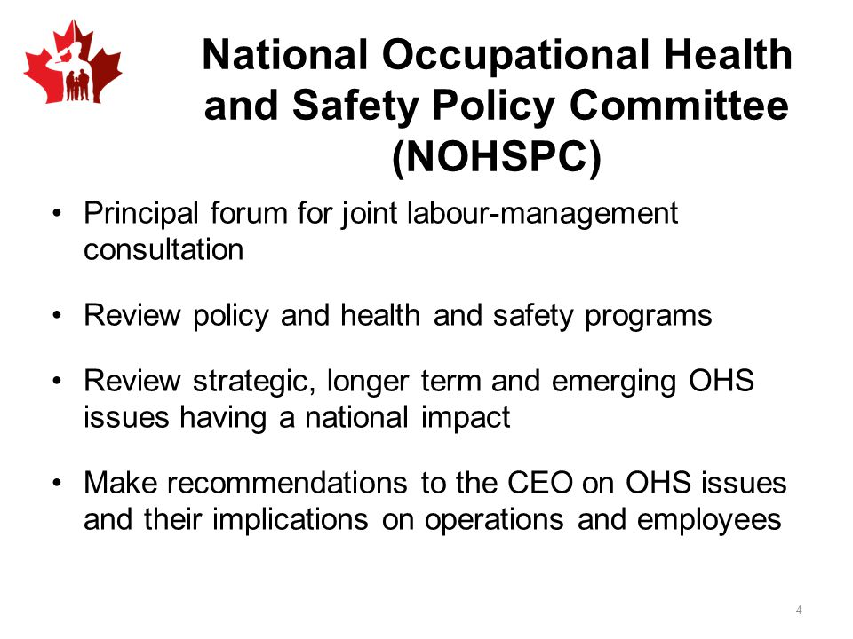 National Occupational Health and Safety Policy Committee (NOHSPC)