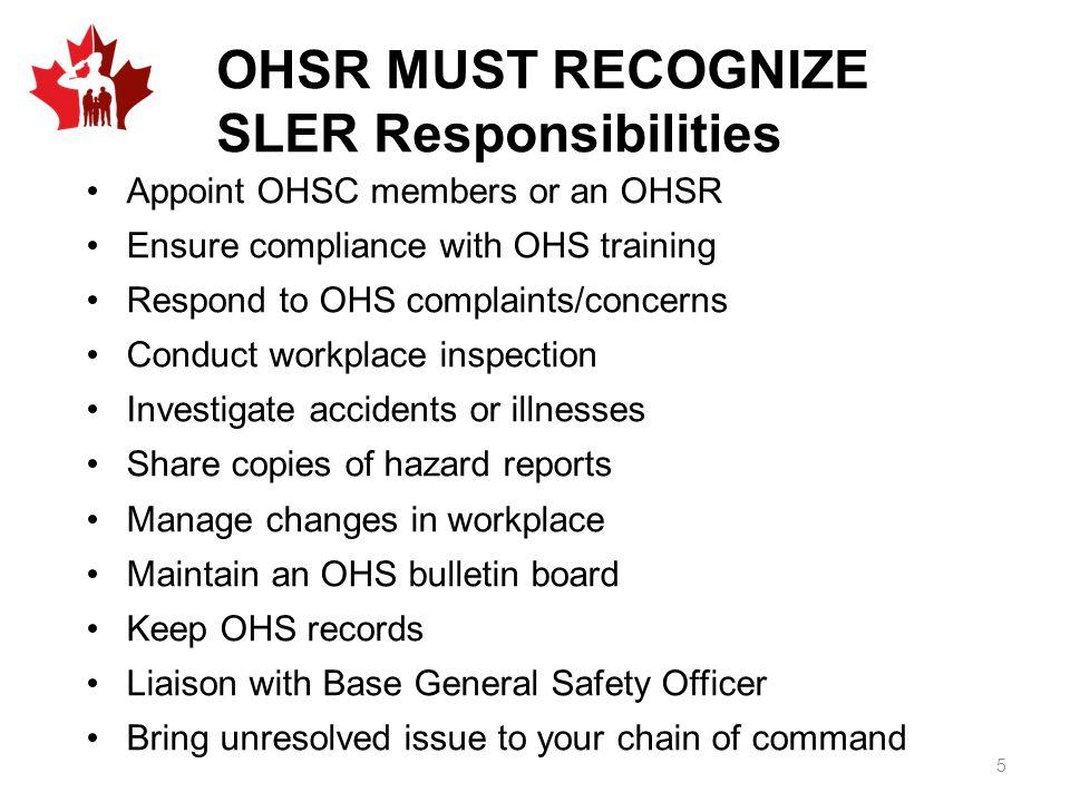 SLER Responsibilities