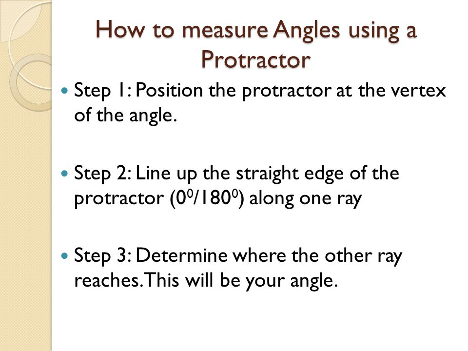 How to measure Angles using a Protractor