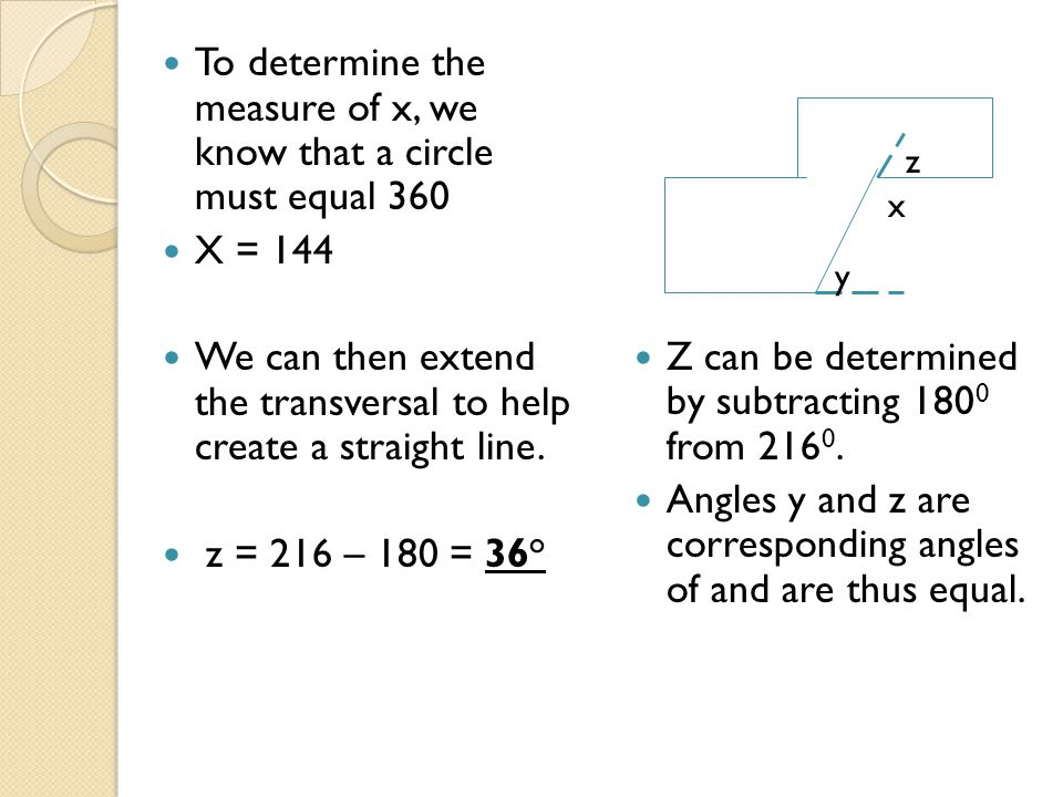 To determine the measure of x, we know that a circle must equal 360