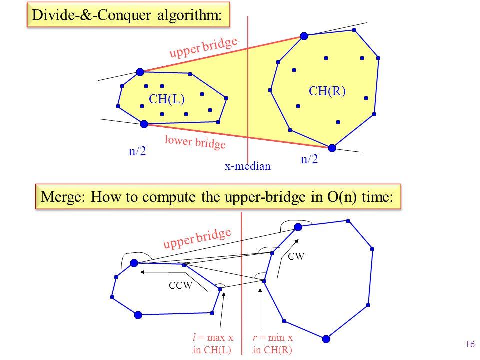 Divide-&-Conquer algorithm: