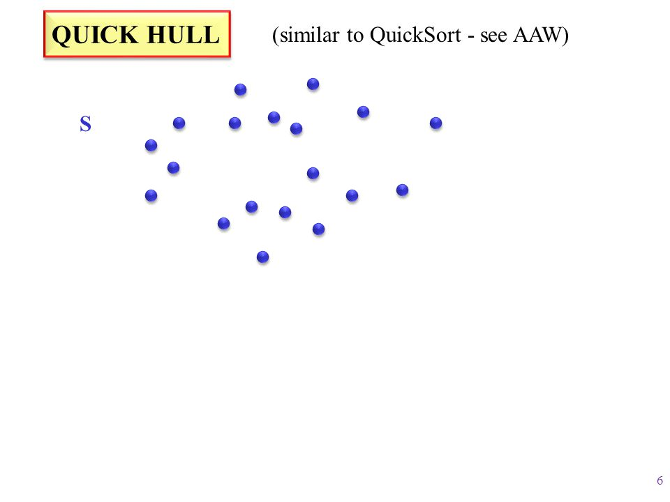 (similar to QuickSort - see AAW)