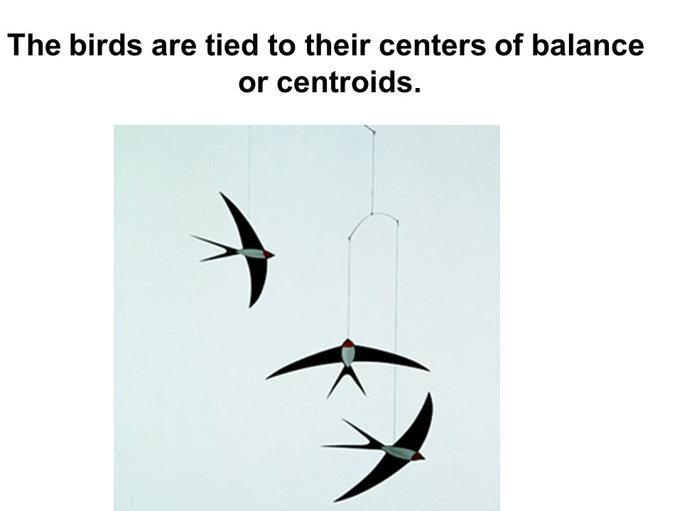 The birds are tied to their centers of balance