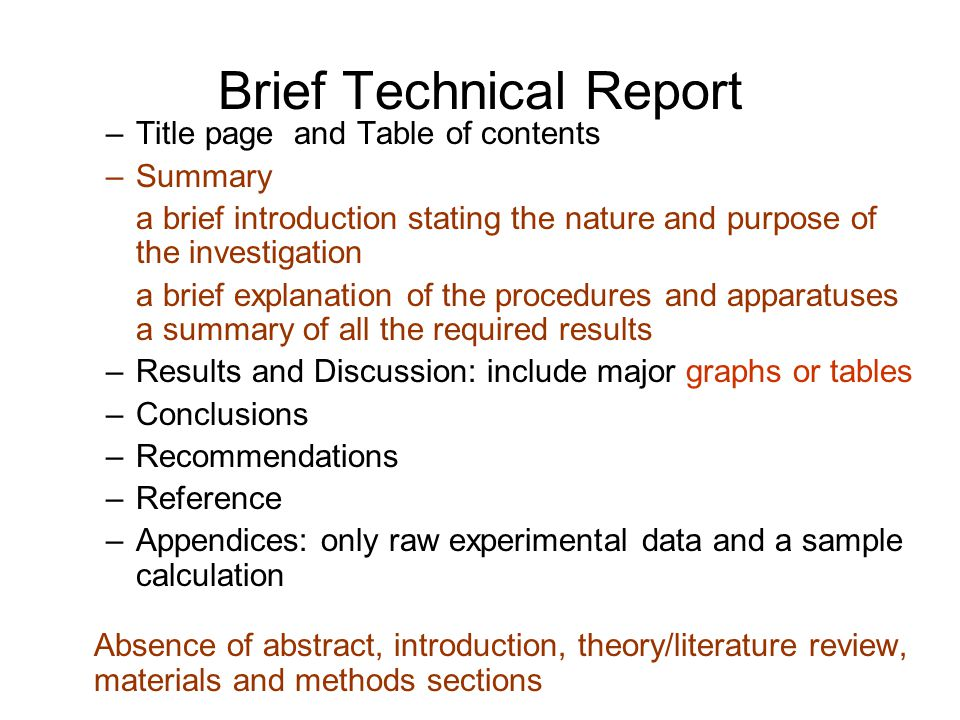 abc format of technical writing Technical communication is a means to convey scientific, engineering, and  technique or other  the abc (abstract, body, and conclusion) format can be  used when writing a first draft of some document types the abstract describes  the subject.