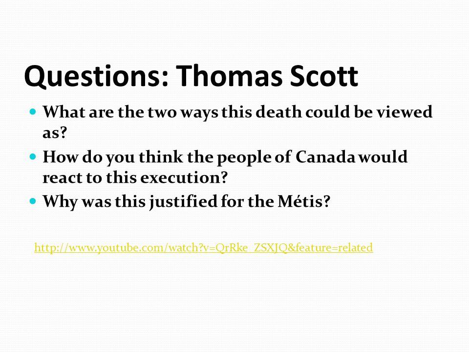Questions: Thomas Scott