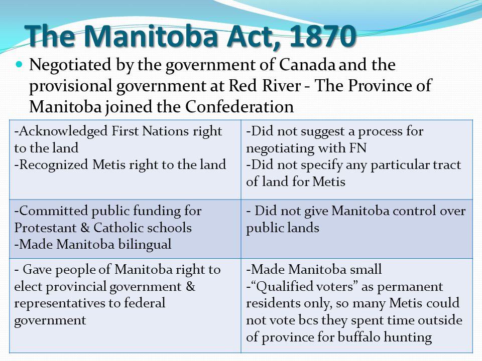 The Manitoba Act, 1870
