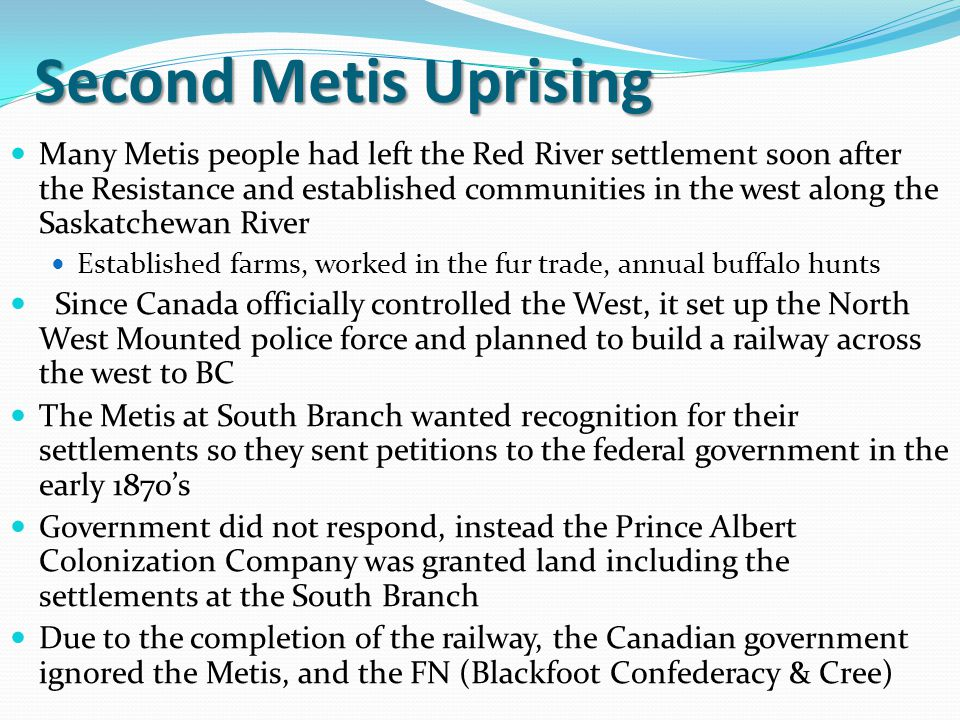 Second Metis Uprising