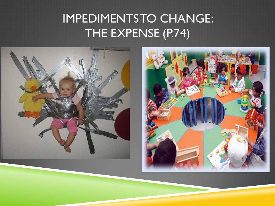 Impediments TO CHANGE: The expense (p.74)