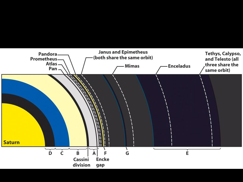 Saturn's inner satellites affect the appearance and structure of its rings