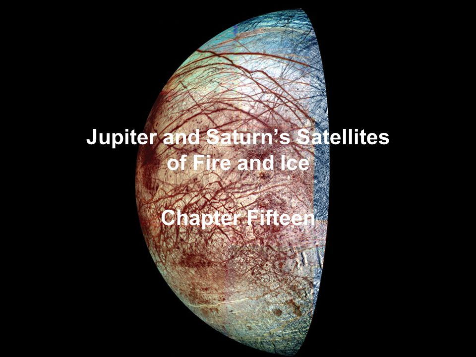 Jupiter and Saturn's Satellites of Fire and Ice