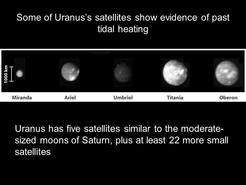 Some of Uranus's satellites show evidence of past tidal heating
