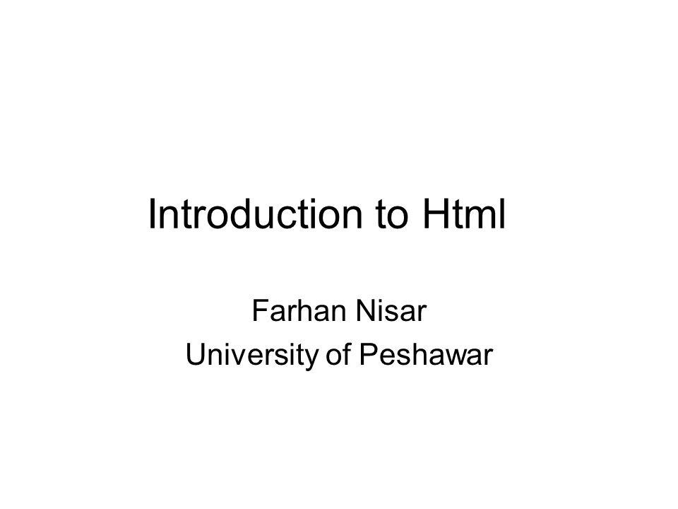 Farhan Nisar University of Peshawar