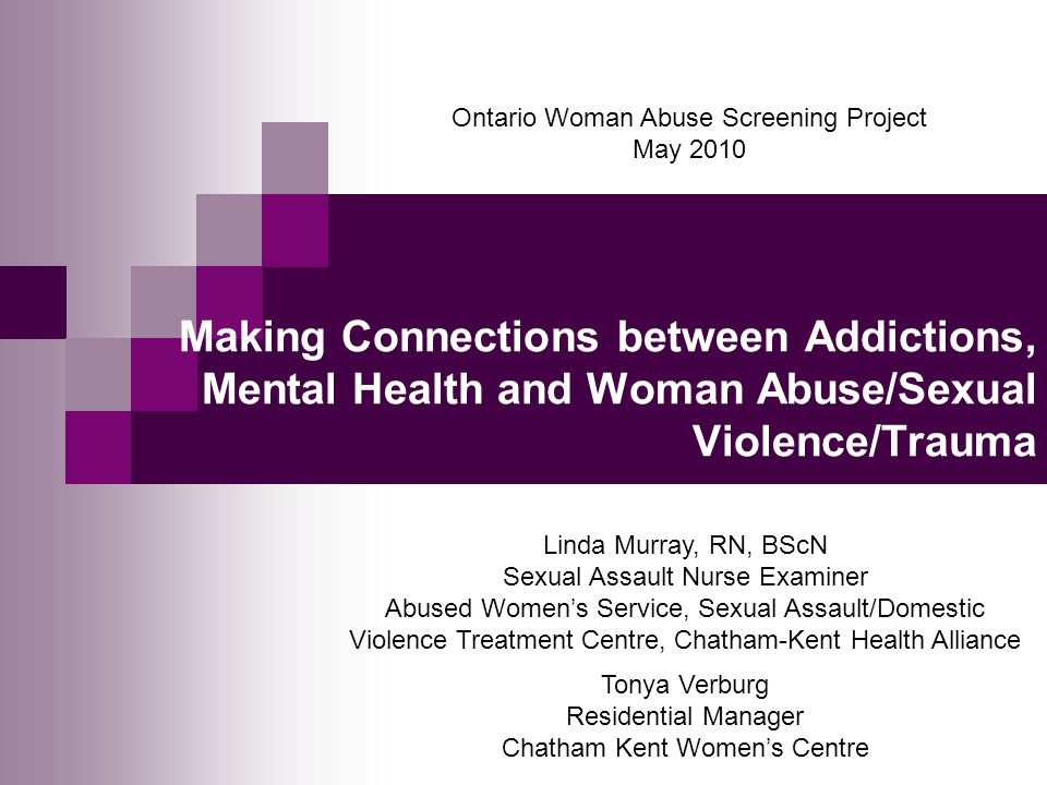 Ontario Woman Abuse Screening Project