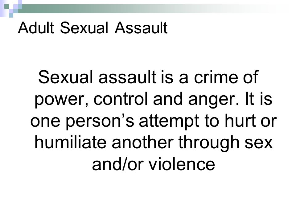Adult Sexual Assault