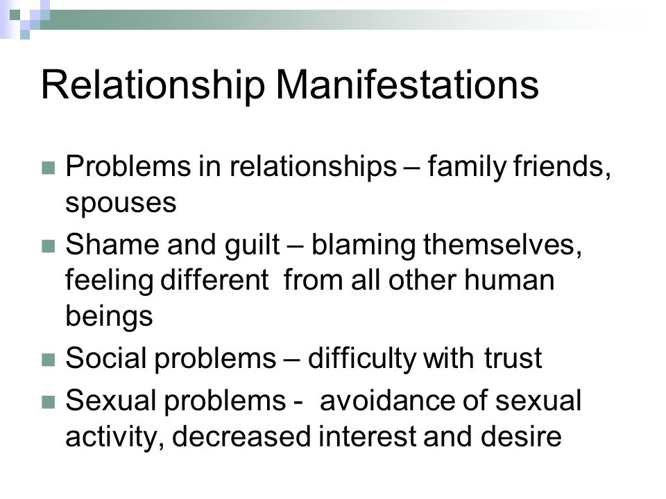 relationship problems sexual abuse victims and shame