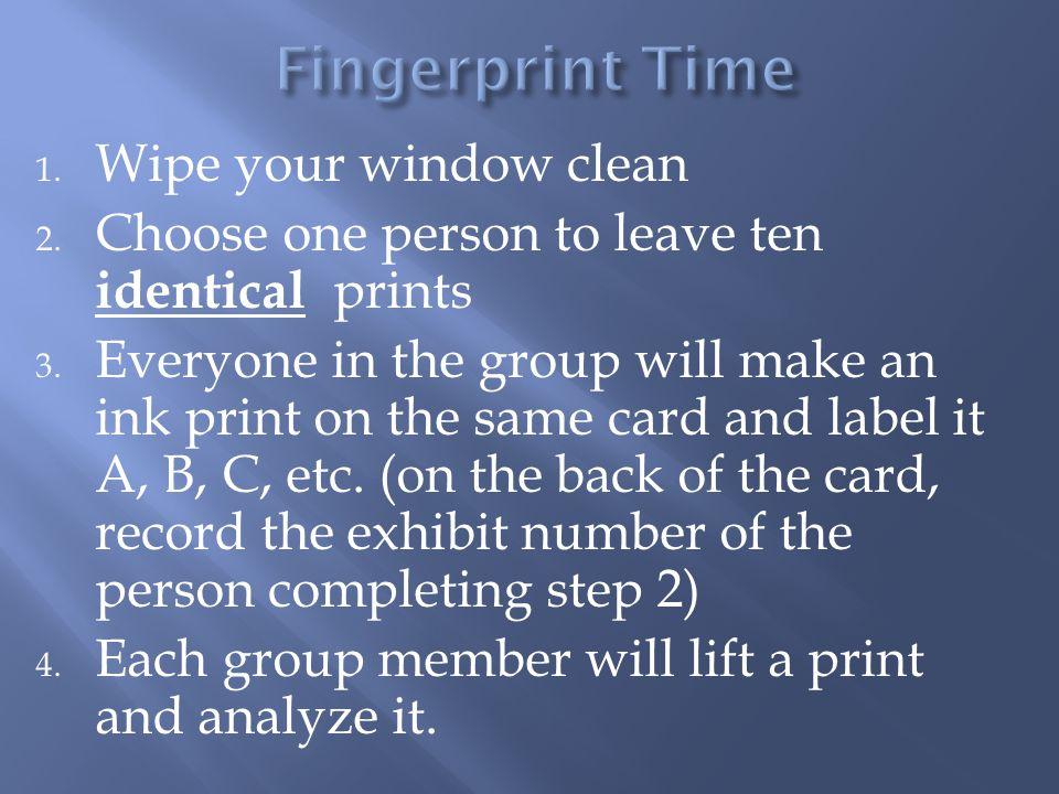 Fingerprint Time Wipe your window clean