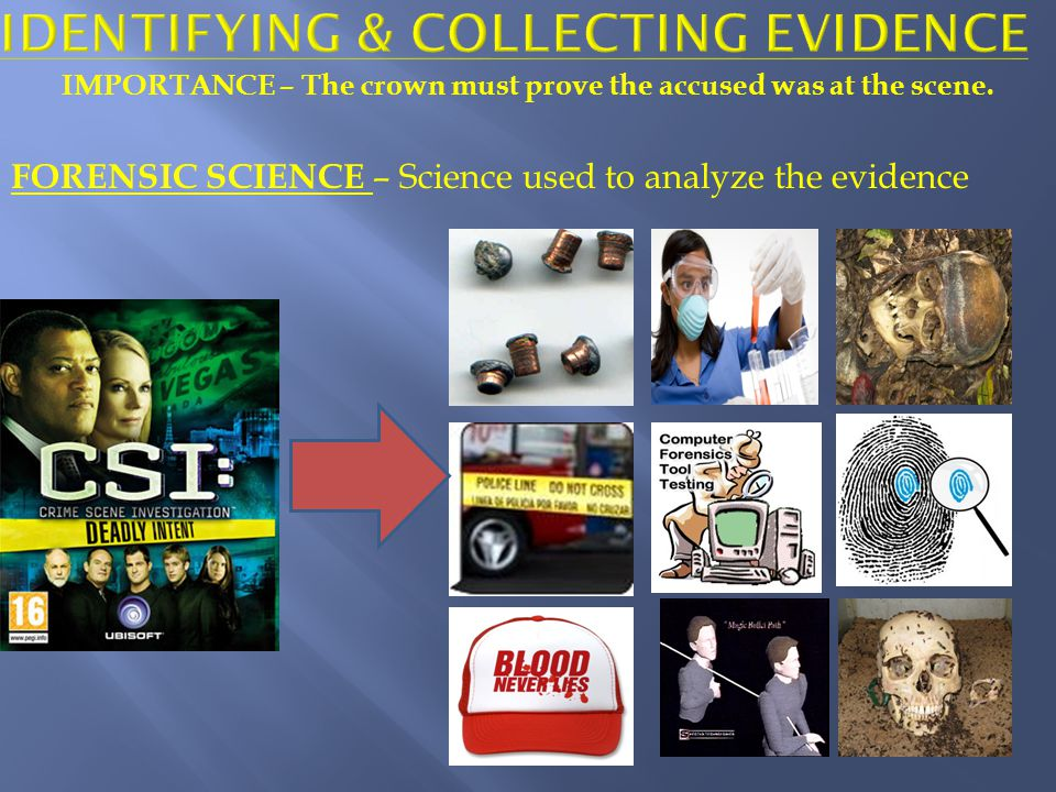 Identifying & collecting evidence