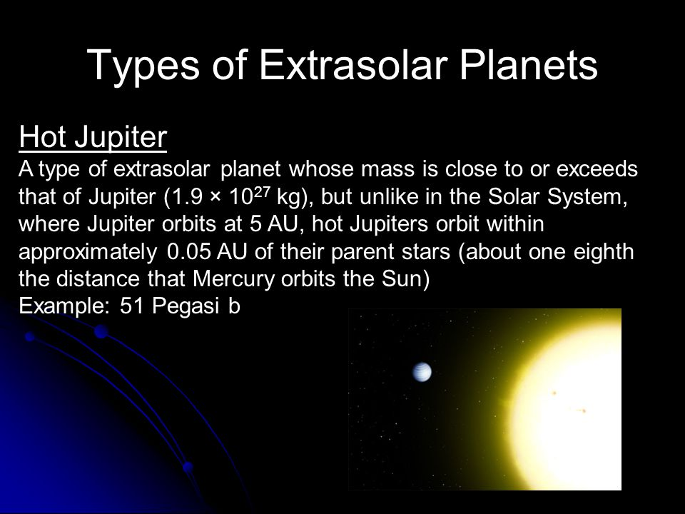 Types of Extrasolar Planets