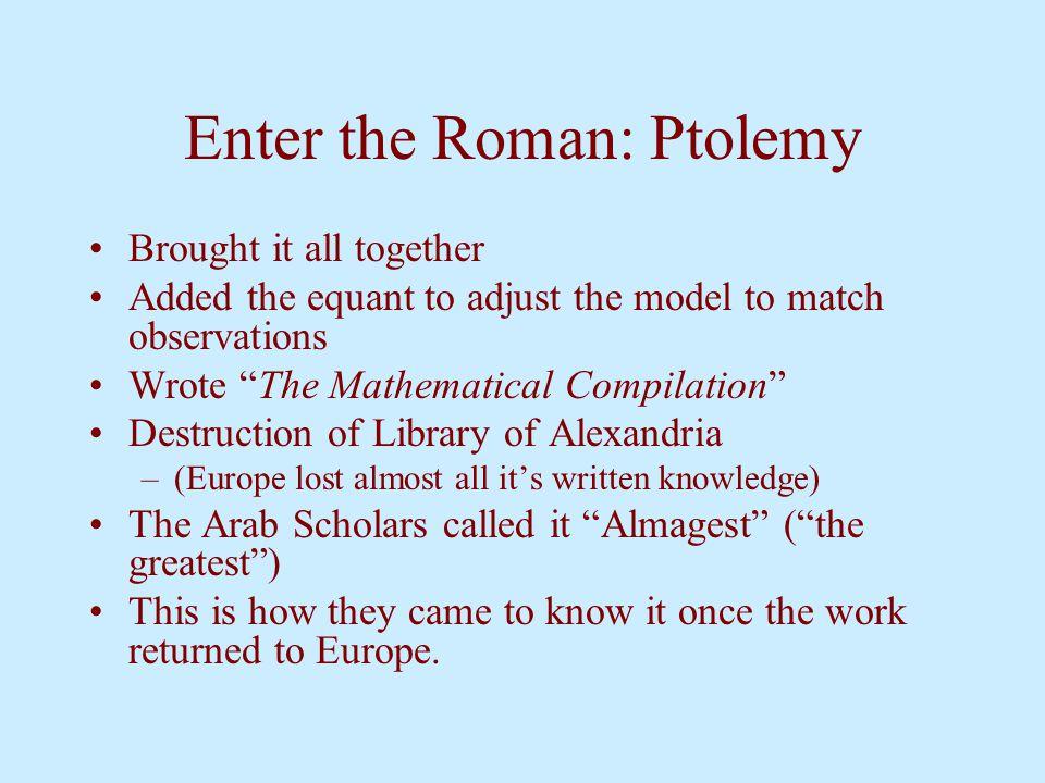 Enter the Roman: Ptolemy