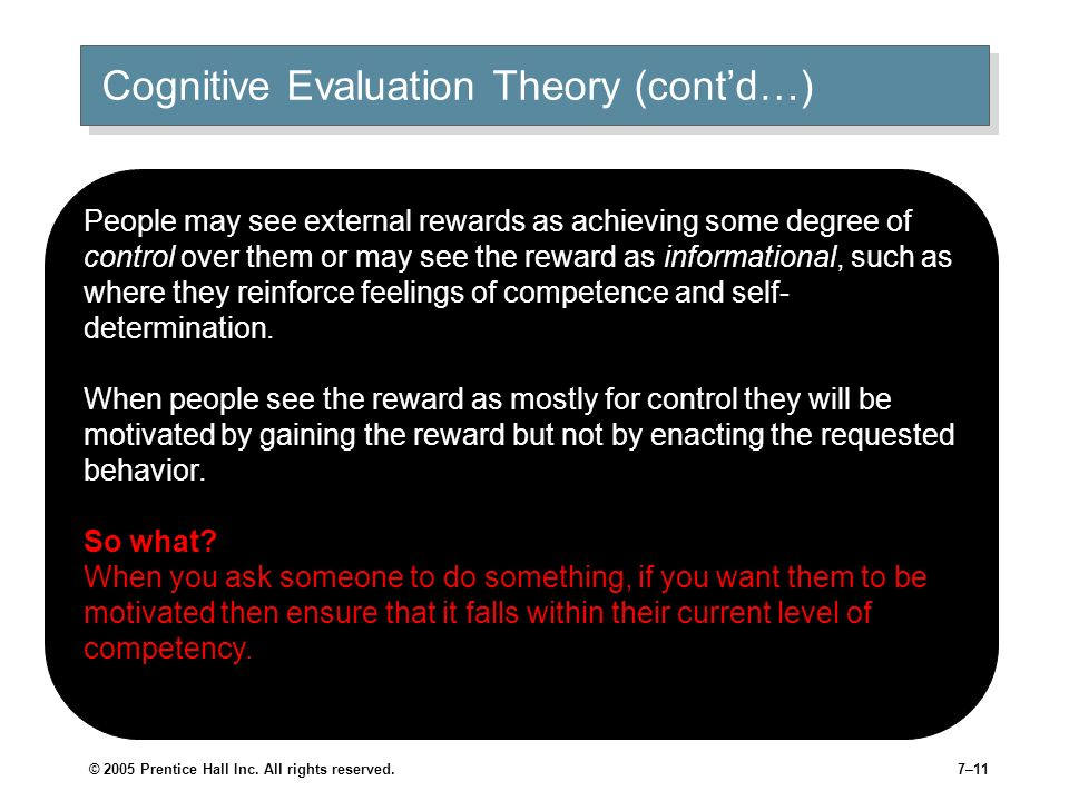 Cognitive Evaluation Theory (cont'd…)