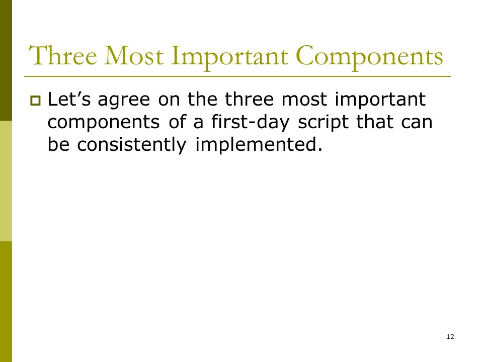 Three Most Important Components