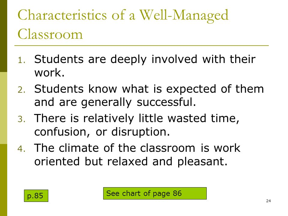 Characteristics of a Well-Managed Classroom