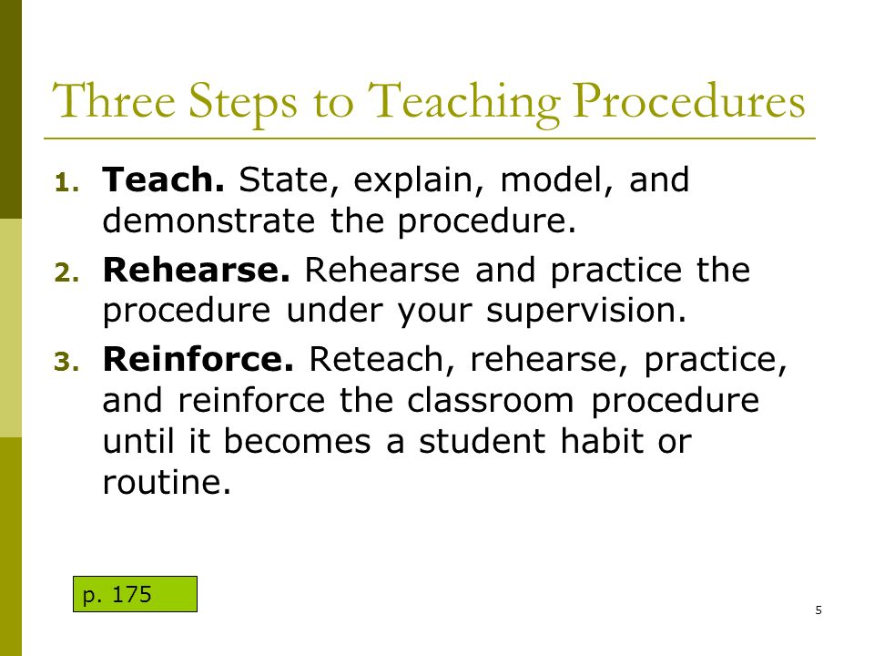 Three Steps to Teaching Procedures