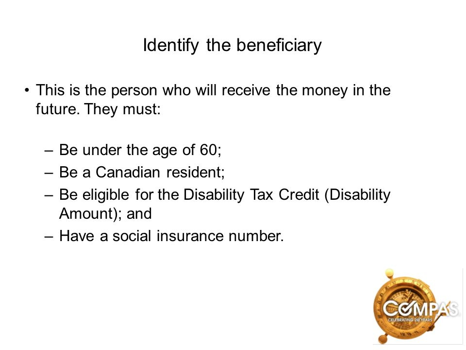 Identify the beneficiary