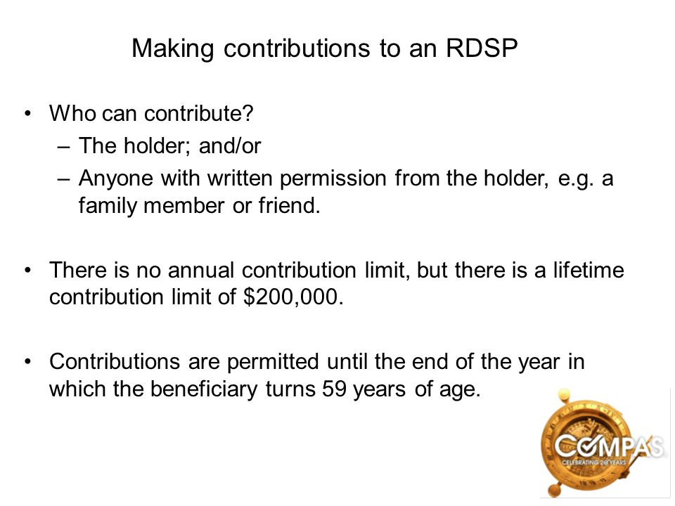 Making contributions to an RDSP