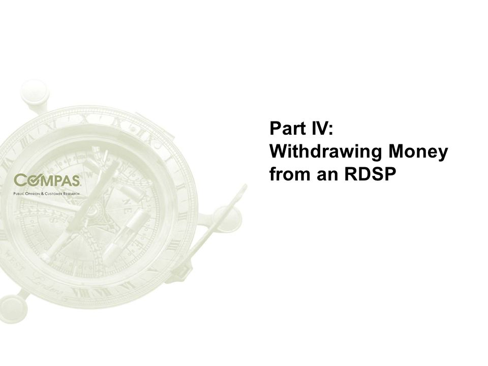 Part IV: Withdrawing Money from an RDSP