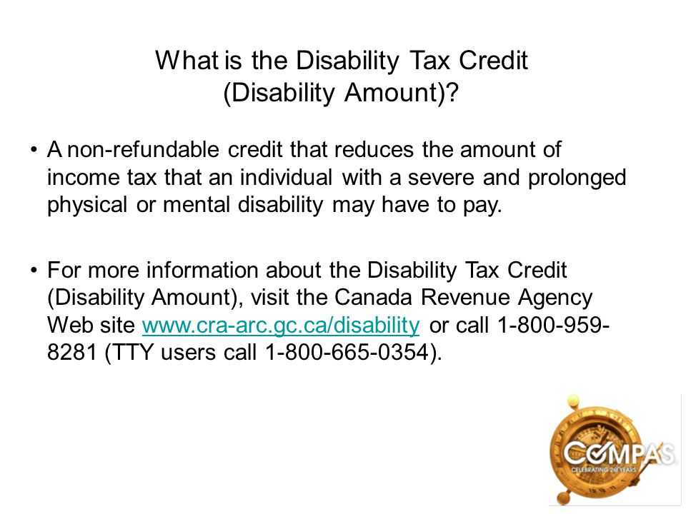 What is the Disability Tax Credit (Disability Amount)
