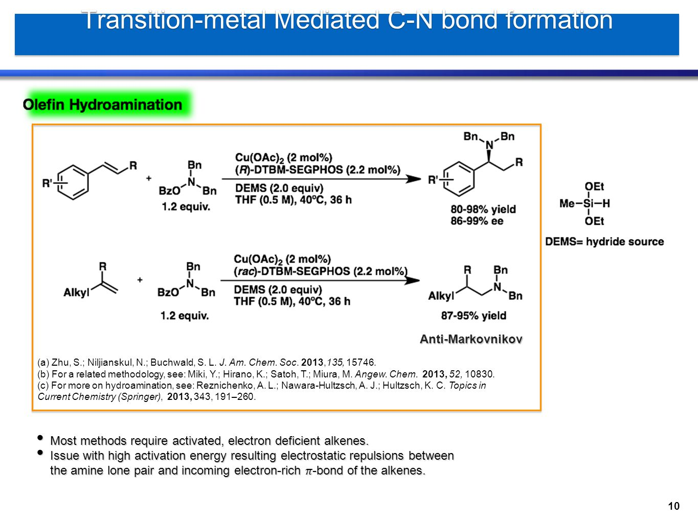 Transition-metal Mediated C-N bond formation